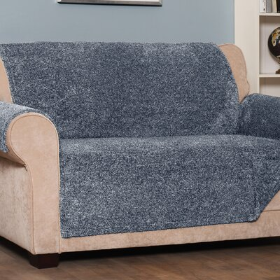 Box Cushion Sofa Slipcover Upholstery: Navy, Size: Large