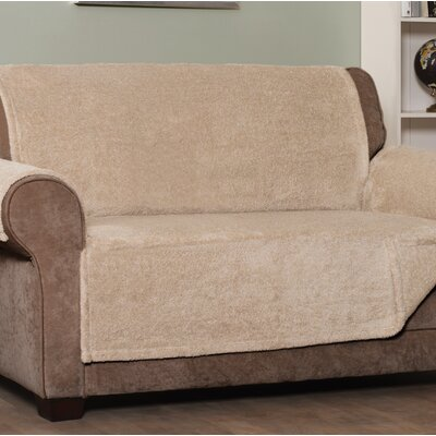 Box Cushion Sofa Slipcover Upholstery: Taupe, Size: Large