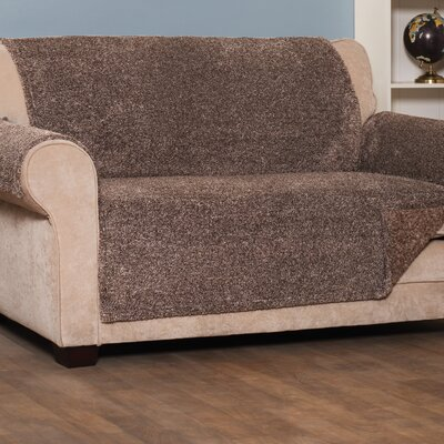 Box Cushion Sofa Slipcover Upholstery: Chocolate, Size: Large
