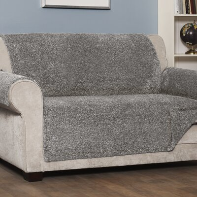 Box Cushion Sofa Slipcover Upholstery: Gray, Size: Small