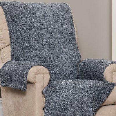 Box Cushion Recliner Slipcover Upholstery: Navy