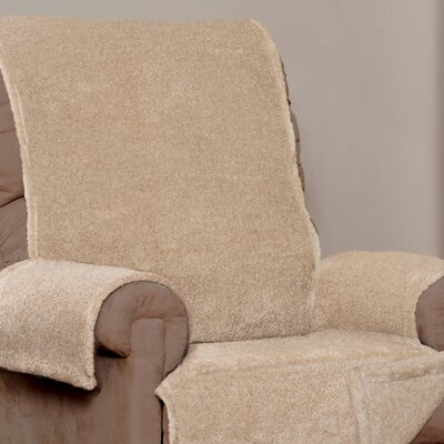 Box Cushion Recliner Slipcover Upholstery: Taupe