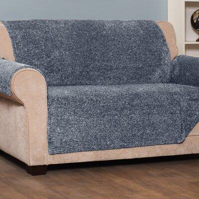 Box Cushion Loveseat Slipcover Upholstery: Navy