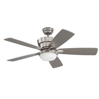 44 Cauthen Ceiling Fan with Remote Finish: Satin Nickel
