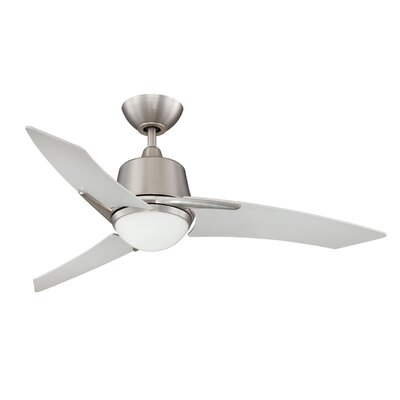 44 Hinkson Ceiling Fan with Remote Finish: Satin Nickel