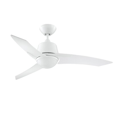 44 Hinkson Ceiling Fan with Remote Finish: White