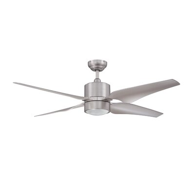 52 Gayle 4 Blade Ceiling Fan Finish: Satin Nickel