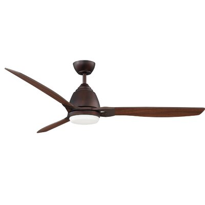 52 Geil 3 Blade LED Ceiling Fan Motor Finish: Oil Brushed Bronze