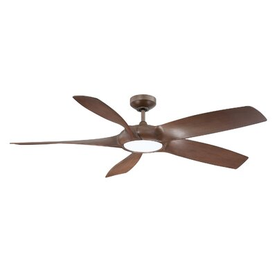 54 Donaway LED Ceiling Fan Finish: Russet Chestnut