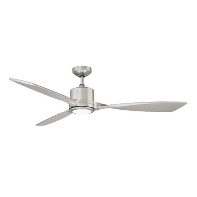 60 Highpoint LED Ceiling Fan Finish: Satin Nickel