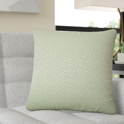 Reeser Geometric Throw Pillow Color: Green
