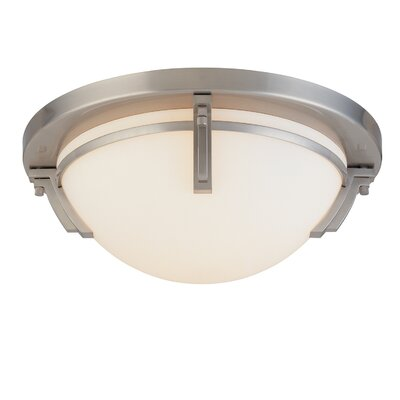 Hogle 3-Light LED Flush Mount Fixture Finish: Light Satin Nickel
