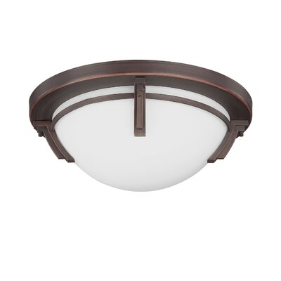 Hogle 3-Light LED Flush Mount Fixture Finish: Oil Rubbed Bronze