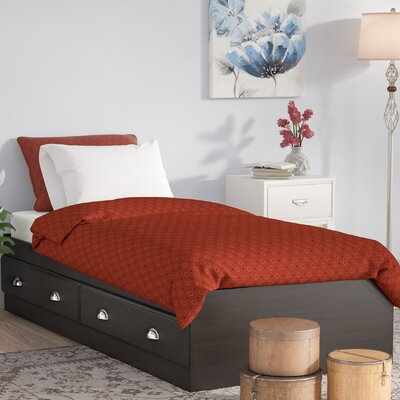 Revere Storage Platform Bed Color: Jamocha Wood, Size: Twin