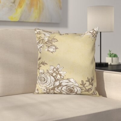 Modern Floral 18 Square Pillow Cover Size: 16 x 16