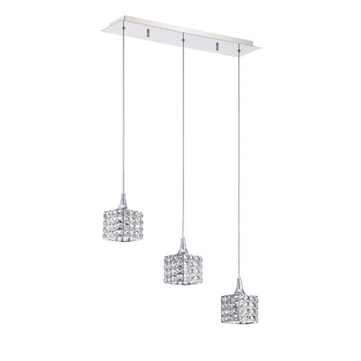 Hopkins 3-Light Kitchen Island Pendant