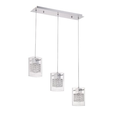 Hoekstra 3-Light Kitchen Island Pendant