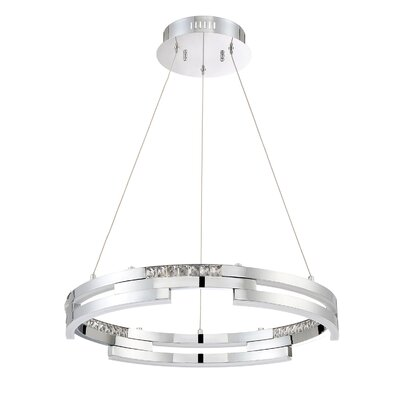 Hoelscher Crystal Pendant Finish: Black Stainless