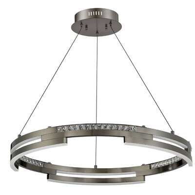 Hoelscher Crystal Pendant Finish: Chrome
