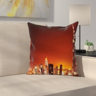 Cityscape Pillow Cover Size: 24 x 24