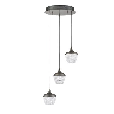 Schneider 3-Light Cluster Pendant Finish: Chrome