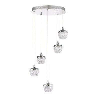 Schneider 5-Light Cluster Pendant Finish: Black Stainless