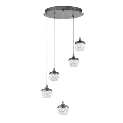 Schneider 5-Light Cluster Pendant Finish: Chrome