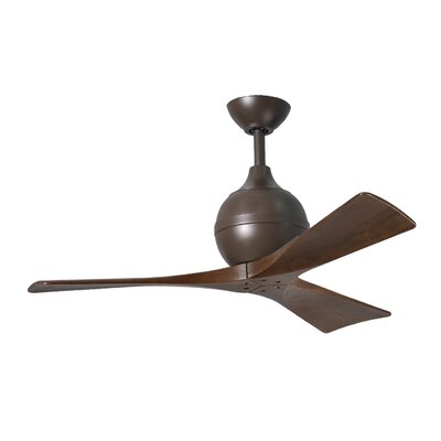 42 Bernard 3 Blade Ceiling Fan with Remote Finish: Textured Bronze with Barn Wood Tone Blades