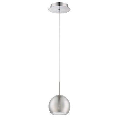 Hileman 1-Light Globe Pendant Finish: Satin Nickel