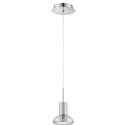 Hiles 1-Light Mini Pendant Finish: Satin Nickel