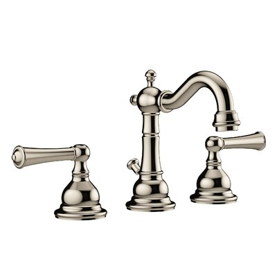 Barrea Lavatory Widespread Double Handle Bathroom Faucet with Drain Assembly Finish: Polished Nickel