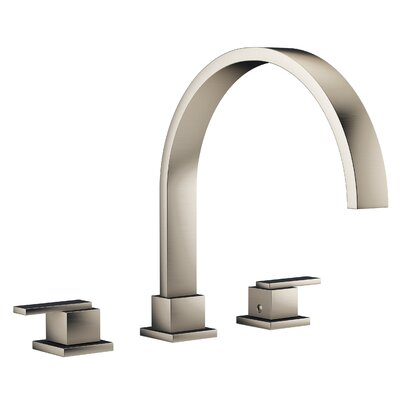 Mincio Widespread Double Handle Bathroom Faucet Finish: Brushed Nickel