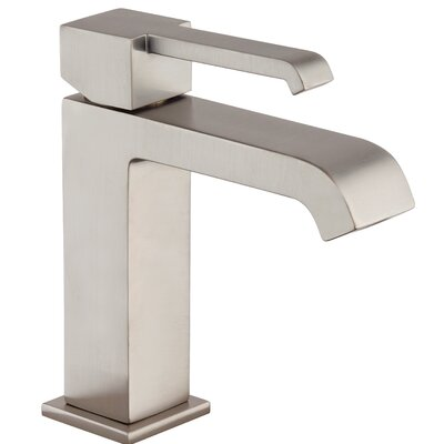 Malcolm Lever Single Handle Bathroom Faucet with Drain Assembly Finish: Brushed Nickel