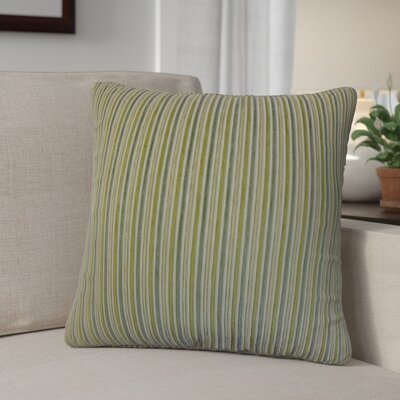 Diane Stripes Cotton Throw Pillow Color: Green