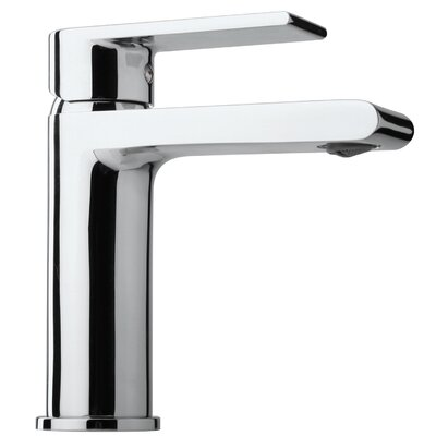 Broxburn Lever Single Handle Bathroom Faucet with Drain Assembly Finish: Polished Chrome