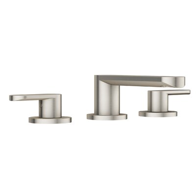 Razzo Lavatory Widespread Double Handle Bathroom Faucet Finish: Brushed Nickel