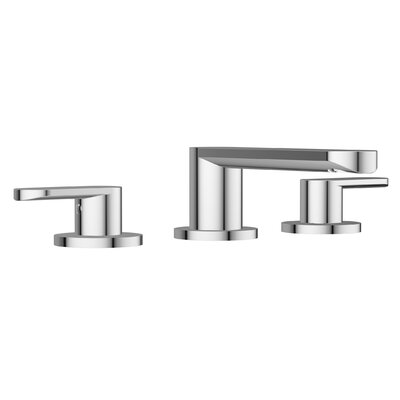 Razzo Lavatory Widespread Double Handle Bathroom Faucet Finish: Polished Chrome