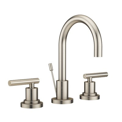 Salone Widespread Double Handle Bathroom Faucet with Drain Assembly Finish: Brushed Nickel