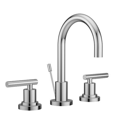 Salone Widespread Double Handle Bathroom Faucet with Drain Assembly Finish: Polished Chrome