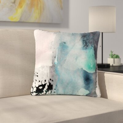 Iris Lehnhardt Abstract Color Painting Outdoor Throw Pillow Size: 16 H x 16 W x 5 D