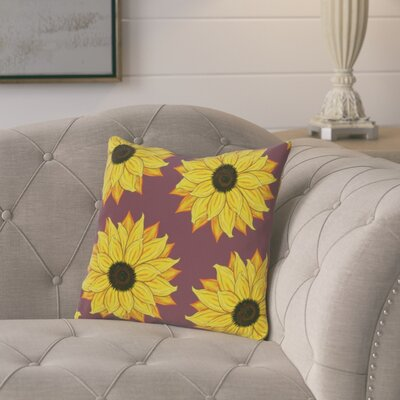 Cherokee Sunflower Power Floral Outdoor Throw Pillow Color: Purple