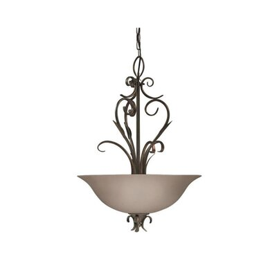 Beringer 3-Light Bowl Pendant