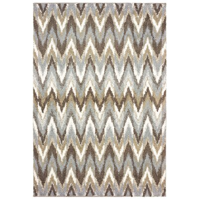 Maddox Chevron Gray/Taupe Area Rug Rug Size: Rectangle 53 x 76