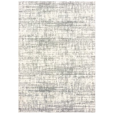 Maddox Ivory/Gray Area Rug Rug Size: Rectangle 910 x 1210