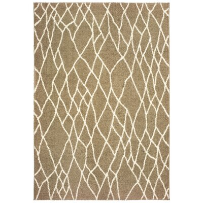 Maddox Lattice Taupe Area Rug Rug Size: Rectangle 53 x 76