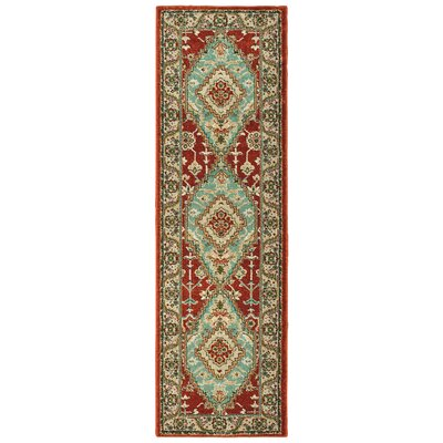 Hedberg Medallion Rust/Blue Area Rug Rug Size: Rectangle 23 x 76