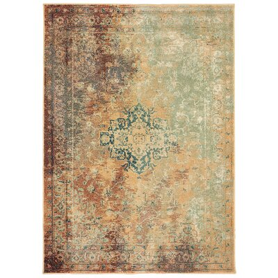 Hedberg Brown/Green Area Rug Rug Size: Rectangle 310 x 55