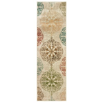Hedberg Medallions Ivory Area Rug Rug Size: Rectangle 23 x 76