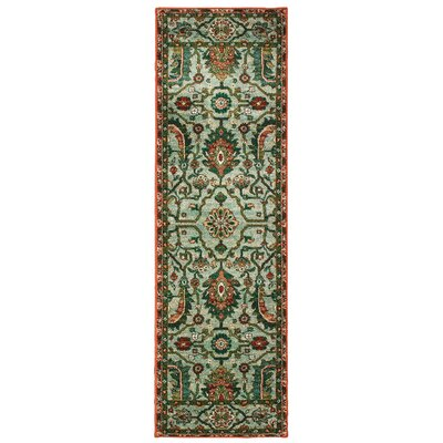 Hedberg Vintage Tribal Green Area Rug Rug Size: Rectangle 23 x 76