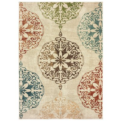 Hedberg Medallions Ivory Area Rug Rug Size: Rectangle 310 x 55